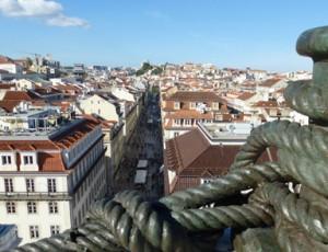 Beeindruckende Aussicht Lissabon